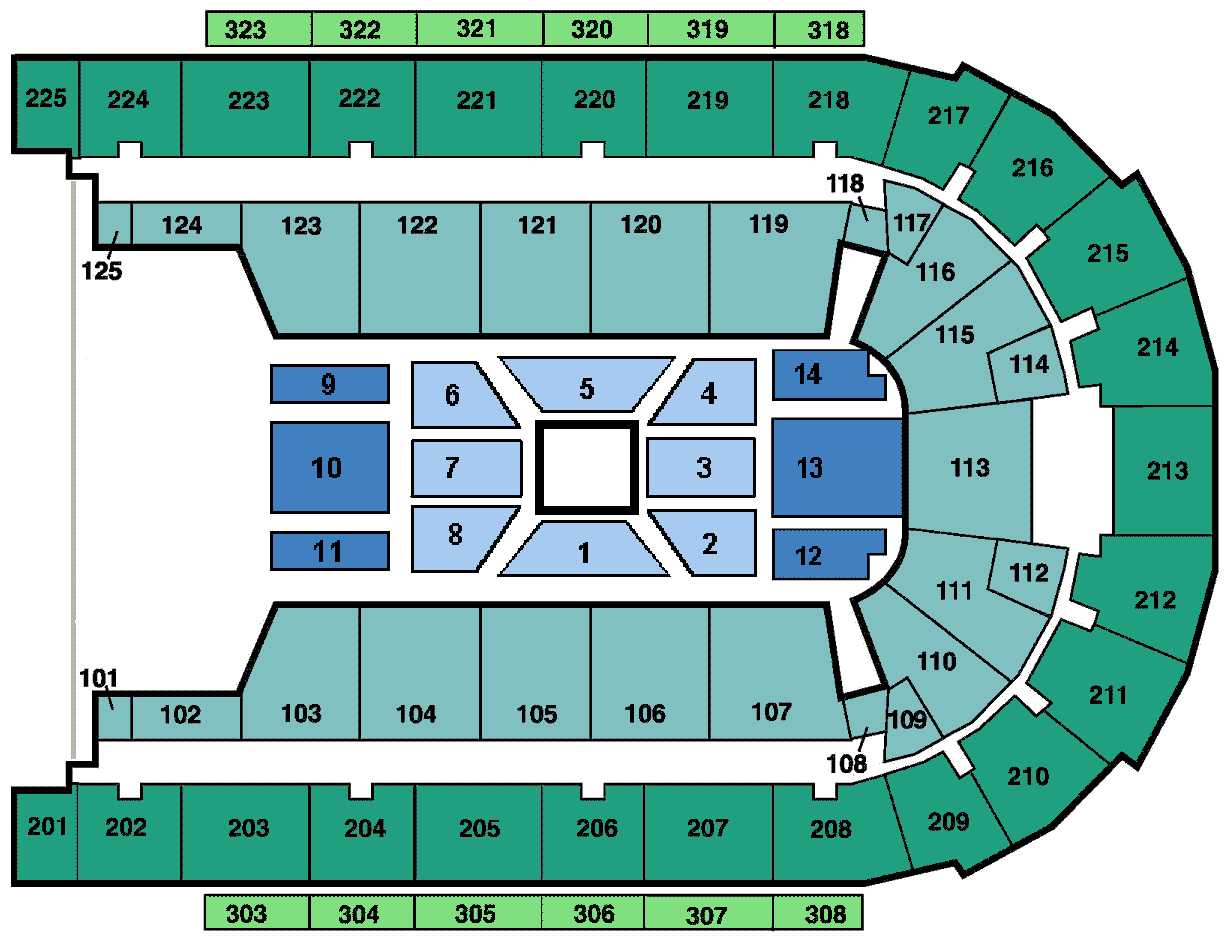 Seating charts boardwalk hall
