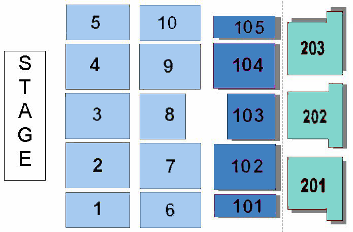 Ballroom Concert Map